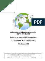 Esquema de Certificação Automotiva Para a ISO TS 16949 2002 - 3ª Edição - Inglês