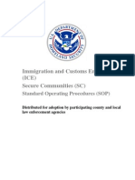 ICE Secure Communities Standard Operating Procedures (9/30/09)