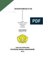 Praktikum Spektrofotometer UV-VIS