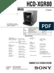 Sony Hcd-xgr80 Ver-1.1 Sm