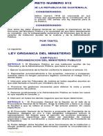 Ley Organica Del Ministerio Publico Decreto Numero 512
