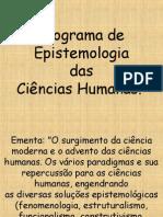 1 Epistemologia das Ciências Humanas