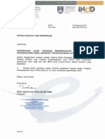 Surat Pelepasan Exam PPG Jan 2013