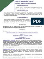 Ley Del Servicio Publico de Defensa Penal