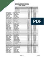 Chicago Police Sergeant Merit List