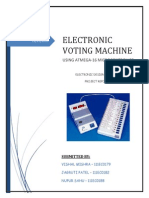 Electronic Voting Machine ATMEGA