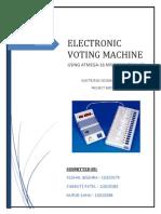 Electronic Voting Machine ATMEGA