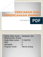 Kebijakan Dan Perencanaan Energi(1)