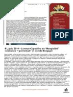 """8 Luglio 2014 - Lorenzo Coppolino su Mangialibri recensisce """"I pornomadi"""" di Davide Morgagni"""