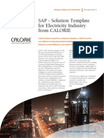 SAP - Solution Template for Electricity Industry