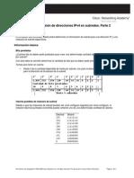 Actividad 6.7.4 División de Direcciones IPv4 en Subredes. Parte 2
