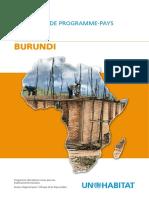 Document de Programme-Pays 2008-2009 - Burundi