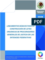 LINEAMIENTOS BÁSICOS PARA LA Construcciones de Las Leyes Organicas de La Proc