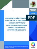 Lineamientos Instituciones Seguridad Publica en La Inv Del Delito