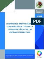 Lineamientos Ley Defensoria Publica