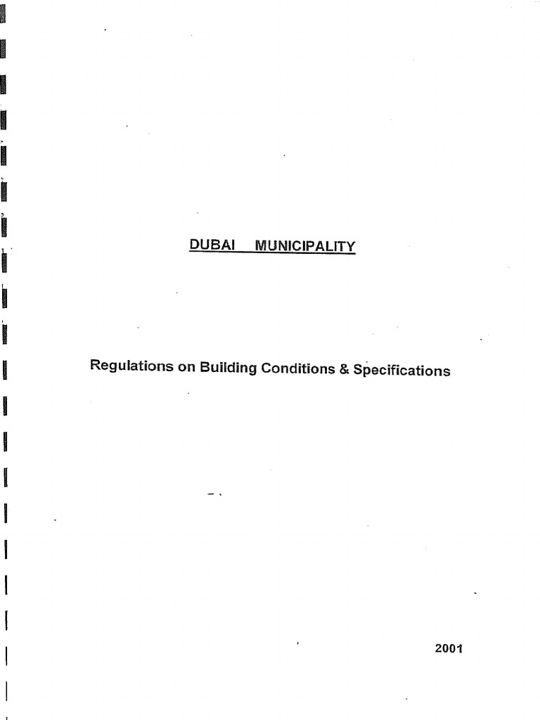 DUBAI MUNICIPALITY Regulations On Building Conditions Specifications