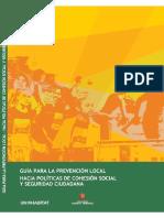 Guía Para La Prevención Local Hacia Políticas de Cohesión Social y Seguridad Ciudadana