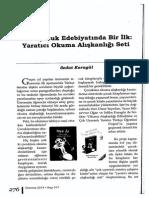 Türk Çocuk Edebiyatında Bir İlk