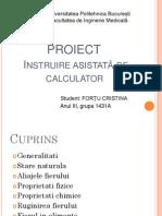 Prezentare IAC- Fortu Cristina- Facultatea de Inginerie Medicala-grupa 1431A