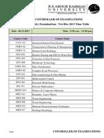 Timetable Phd Nov 2013