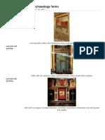Roman Archaeology Terms