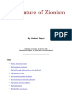 Copy of the Nature of Zionism; VladimirStepin