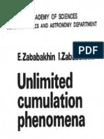 Unlimited Cumulation Phenomena -- E. Zababakhin - I. Zababakhin