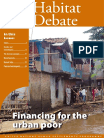 Habitat Debate Financing for the Urban Poor