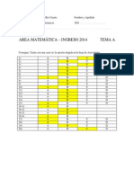 Respuestas Correctas Diagnostico Tema a y Tema B 2014