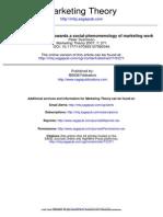 Towards a Social-phenomenology of Marketing Work