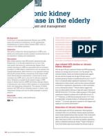 Chronic Kidney Disease in the Elderly
