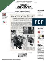 Edison's Own Secret Spirit Experiments _ Modern Mechanix