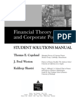 Financial Theory And Corporate Policy(Students solution manual)