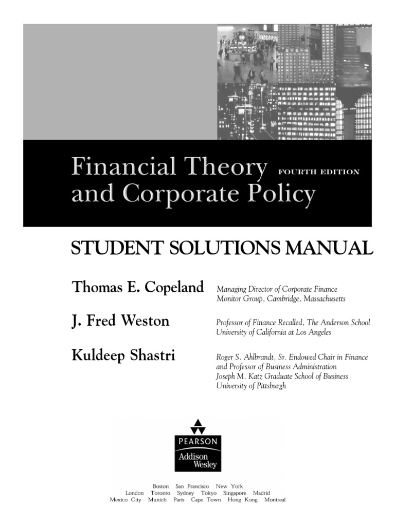 Financial theory and corporate policystudents solution manual financial theory and corporate policystudents solution manual internal rate of return net present value fandeluxe