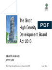 The Sindh High Density Development Act, 2010 presentation by Roland deSouza