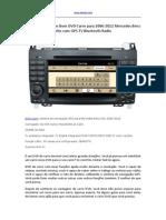 Como Comprar Um Bom DVD Carro Para 2006-2012 Mercedes Benz Vito Com GPS TV Bluetooth Radio