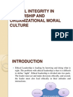 Ethical Integrity in Leadership and Organizational Moral Culture