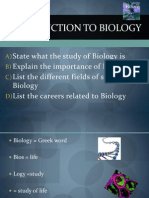 Introduction to Biology 5nov