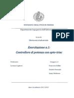 Relazione Esercitazione n.1, Gruppo3 Elettronica Industriale (2)