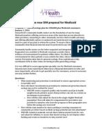 Q & a on New SIM Medicaid Proposal