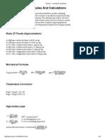 Motor Formulas