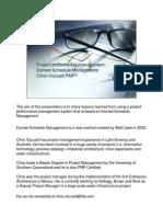 Project Performance Management - Chris Vizzuet