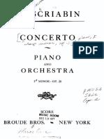 Scriabin Piano Concerto 2
