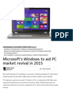 Microsoft's Windows to Aid PC Market Revival in 2015 _ PCWorld