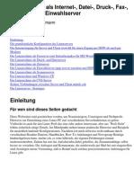 (eBook - German) Ein Linux-Pc Als Internet-, Datei-, Druck-, Fax-, Scanner- Und Einwahlserver