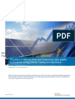 Effect of Offshore Wind & Photovoltaic Solar Growth on European Energy Market