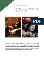"The ""Bollywoodization"" of Shakespeare in Vishal Bhardwaj's Maqbool and Omkara"