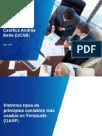 Distintos Tipos de Principios Contables Mas Usados en Venezuela (GAAP)