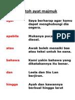 Contoh Ayat Majmuk
