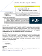 Assessment Overview Marketing Plan Individual Report (1)